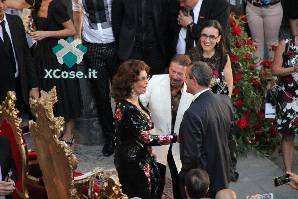 Sfilata Dolce & Gabbana (D&G) Napoli Sophia Loren De Magistris